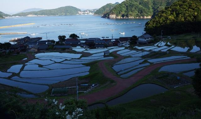 Selten Natur-blick der Reisterrasse von Wakasa Takahama  Japan.